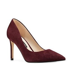 Nine West Jackpot Burgundy Pointed Toe Heels